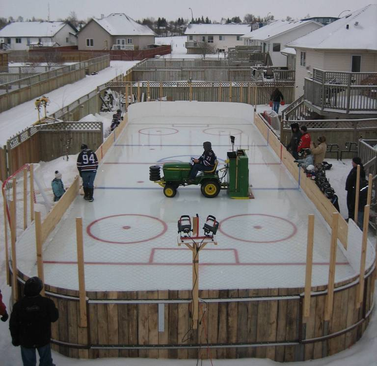 Backyard Ice Rink Diy : Home Ice, Open Ice  Whats Up, Ya Sieve?