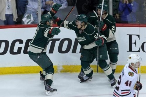 NHL: Stanley Cup Playoffs-Chicago Blackhawks at Minnesota Wild