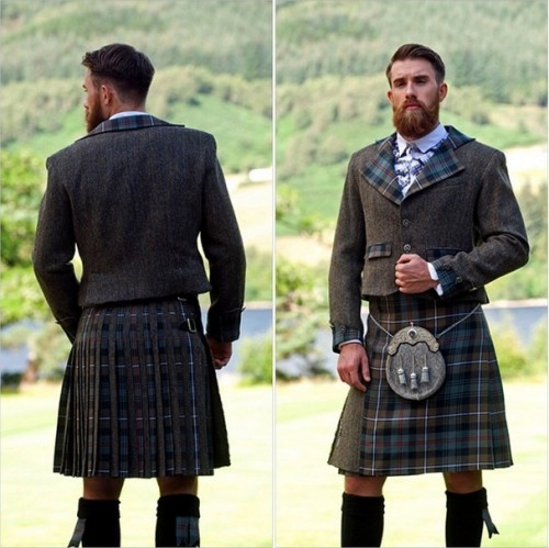 Wonder of what's under that kilt...
